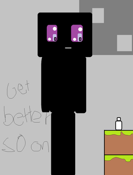Endermen and a bottle by Crazeddude4000