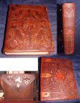 Hand made,tooled Book by Bonecarverpm