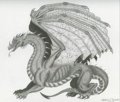 Dragon in Ink by frogmelon