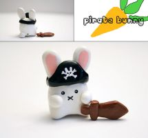 Pirate Bunny Figure by mAd-ArIsToCrAt