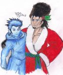 Zack Frost and Father Christmas by BustyShinRaSOLDIER