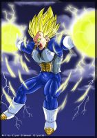 Vegeta : Final Flash : Colored by Elyas11