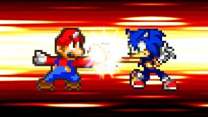 Request - Mario vs. Sonic by KingAsylus91