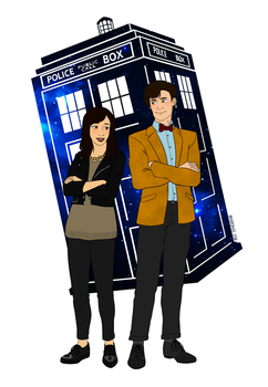 Commission: Jess and the 11th Doctor by shadowcutiepie