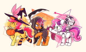 Trick-or-Treat Crusaders by space-kid