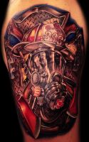 Fire fighter tattoo by hatefulss