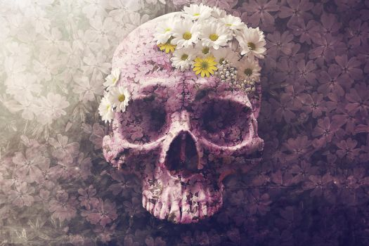 Skull Flowers by igreeny