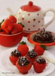 Strawberries Filled with Dark Chocolate Mousse by theresahelmer