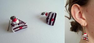 Black forest earrings by curry-brocoli
