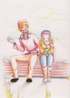 .NaruHina Sitting in the Cold. by BlissfulGold