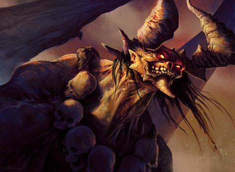 Grinning Demon by FrankGiaggiolo
