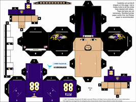 Dennis Pitta Ravens Cubee by etchings13