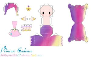 Princess Cadence My little pony Papercraft by matryoshka12