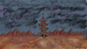 Storm Pagoda by quentinlars