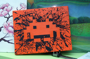 space invaders painting by wemona