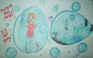 Stacy and Candace trapped in bubbles by YukichanBerryboy