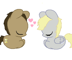 The Doctor and his Assistant (foal version :3) by Cabooselover