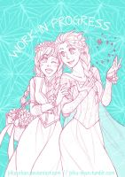 Flowers of Arendelle (WIP) by piku-chan