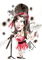 Amy Winehouse caricature by Otto-Chrissi