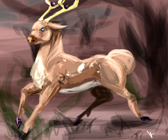 Day 1- Stantler by Kelkis