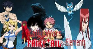 Kaiju Wars X Fairy Tail elements poster by ltdtaylor1970