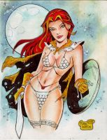 'Cartoon' Red Sonja (#6) by Rodel Martin by VMIFerrari