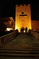 Korcula - city steps by night 1 by wildplaces