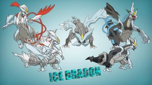 kyurem ice dragon by javierini