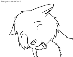 Free Silly Wolf Lineart~ by Prettyxmouse