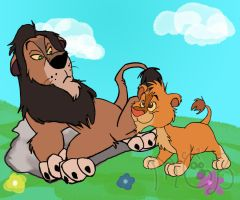 Simba and Scar Lambert style by melted-gummy-bears