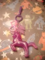 purple unicorn bag charm by leggsXisXawsome