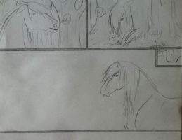 Gilli Anne and Terror Amada Comic Pg. 1 (WIP) by SpottedChesureMoon