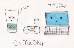 Coffee Shop Problems by Kitty-goes-rawr