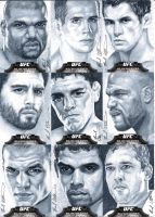 Topps UFC Bloodlines cool gray sketch cards #2 by therealbradu