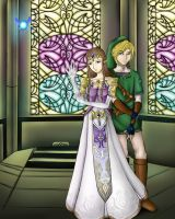 Zelda and Link by Hermsi