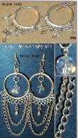 Chained Luminosity Earrings by RavingEagleMedia