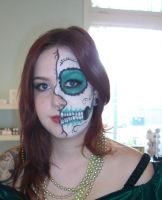 Sugar Skull halfie by Sweetie-J