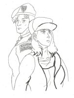 Metal Slug Marco and Fio Alt Outfits WIP by BlueWolfRanger95