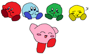 Kirby and Friends by Pixel-777