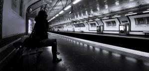Alone at the station by PasoLibre