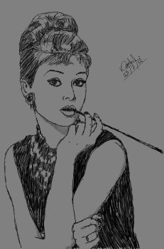 People*Famous*AudreyHepburn*Breakfast_at_Tiffany's by GiantEvilPizza