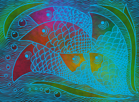 fishes by rocketlaura