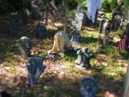 Halloween Miniature Grave Digging Dog by Dream-finder