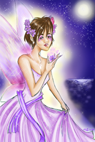 Lilac Pixie: for Ferrychick1 by radioactive-pudding