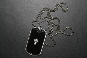 Cross Dog Tag by sabresteen