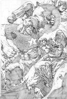 Captain America vs Red Skull by jonathan-rector