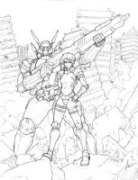 appleseed lineart by beamer