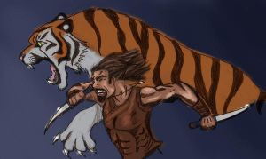 The Tiger of Atlantis-Color by RedTigress