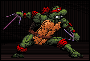 TMNT - Raphael - Comic style by Balthazar321