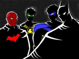 Bat Family ( 100% by Paint ) by slastbeast